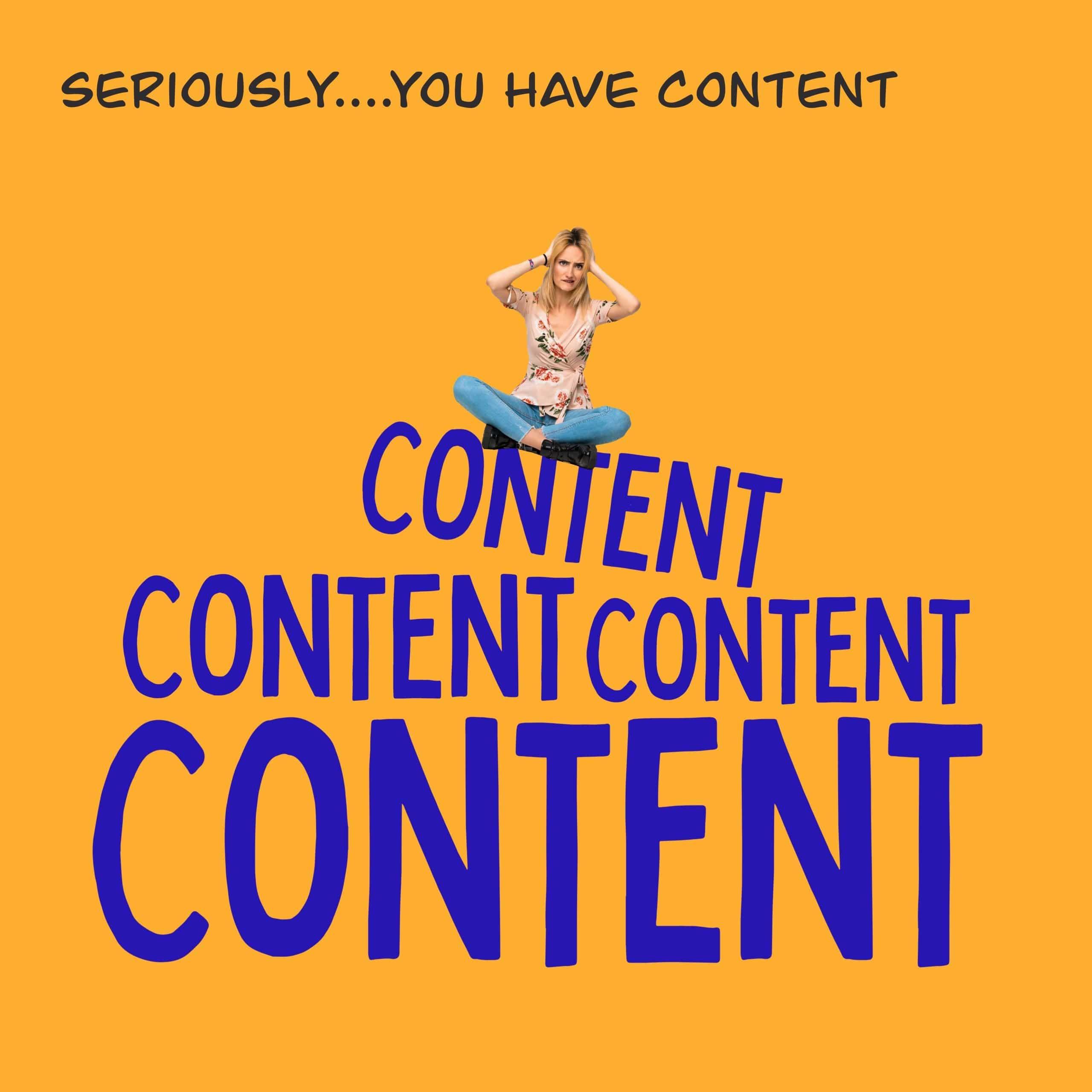 overwhelmed content creator